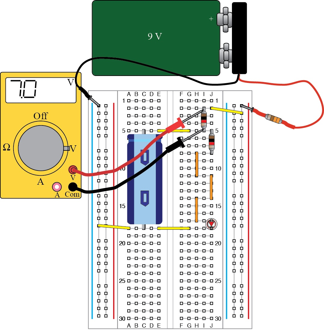 Conceptual Tools Capacitor Led Circuit The Must Be Inserted Into In Correct Direction With Indentation Toward Top Of Board Or